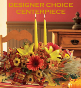Designer Choice Thanksgiving Centerpiece 1 Candle 2 Candle or 3 Candle