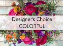designer choice- vivid colors  Vase- bouquet