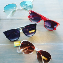 Designer Sunglasses, hard case and cleansing cloth
