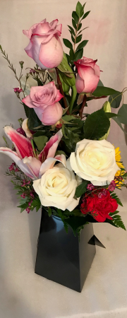 Designer's Box Arrangement  Colors and Flowers May Vary According to Price