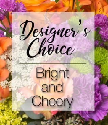Designers choice bright & cheery  Vase
