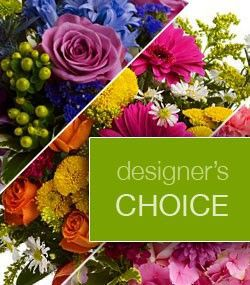Designers Choice  Your choice of our freshest flower arrangements with bath and body products and candles to be packaged beautifully