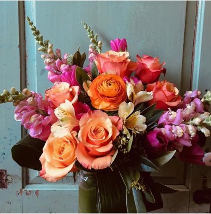 Designer's Lively Custom Arrangement  Seasonal Vase Arrangement