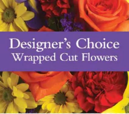 Designers Choice Cut Flowers No Vase Y Hand tied cut flowers small-medium size