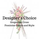 Designer's Choice Feminine Grapevine Cross