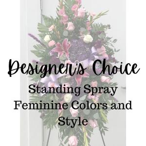 Designer's Choice Feminine Standing Spray in Huntington, TX | LIZA'S GARDEN