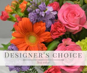 Designer's Choice Fresh Arrangement in Holland, MI | GLENDA'S LAKEWOOD FLOWERS