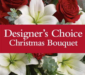 Designer's Choice Holiday Bouquet Fresh Flowers - Designer's Choice