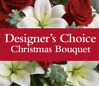 Designer's Choice Holiday Bouquet Fresh Flowers - Designer's Choice