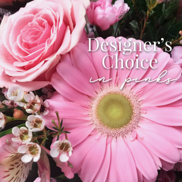 Designer's Choice in Pinks Fresh Floral Arrangement