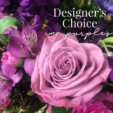 Designer's Choice in Purples Fresh Floral Arrangement