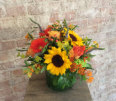 Designer's Choice Low and Dense Arrangement Vase Arrangement