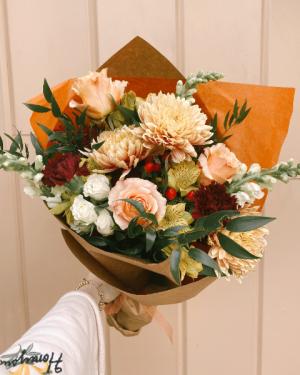 Designer's Choice Wrapped Bouquet in Burlington, VT | Kathy + Co Flowers