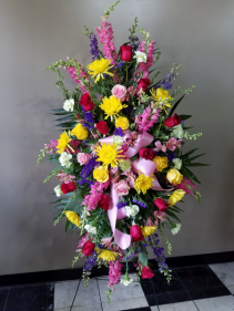 Designers Choice - Mix of Fresh Flowers Standing Spray