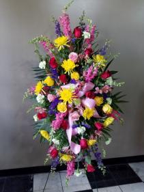 Designers Choice - Mix of Fresh Flowers Standing Spray