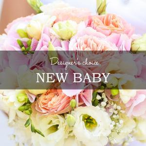 DESIGNER'S CHOICE NEW BABY CUSTOM ARRANGEMENT in Asheville, NC | The Extended Garden Florist