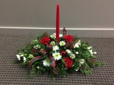 Designers Choice Red and White Centerpiece