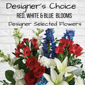 Designer's Choice-Red, White & Blue
