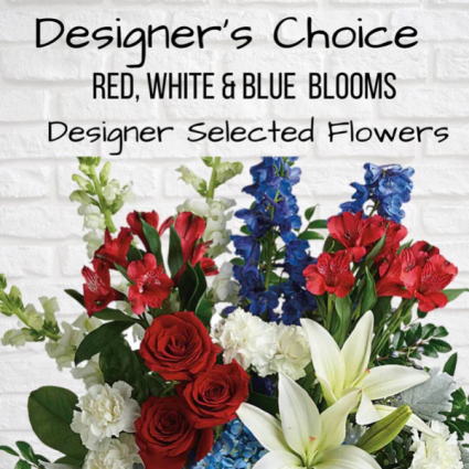 Designer's Choice-Red, White & Blue