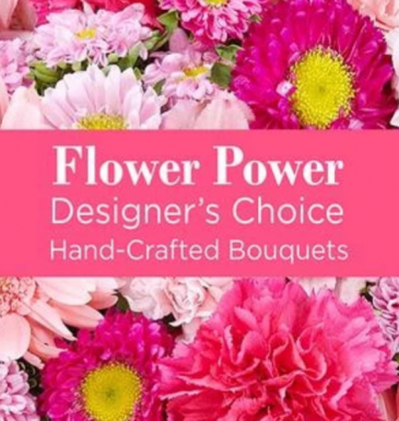 Designers choice mixed cut hand tied  P Cut flowers NO VASE