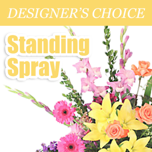 Designer's Choice Standing Spray Easel Arrangement in Mooresville, IN | BUD AND BLOOM FLORIST AND GIFTS
