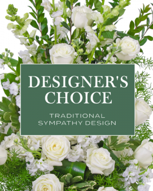 Designer's Choice - Traditional Sympathy Design Flower Arrangement in Nevada, IA | Flower Bed