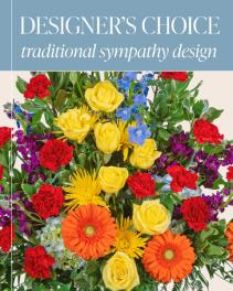 Designer's Choice - Traditional Sympathy Design Flower Arrangementf