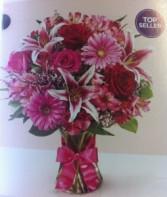 Designers Choice Valentine's Arrangement Vase