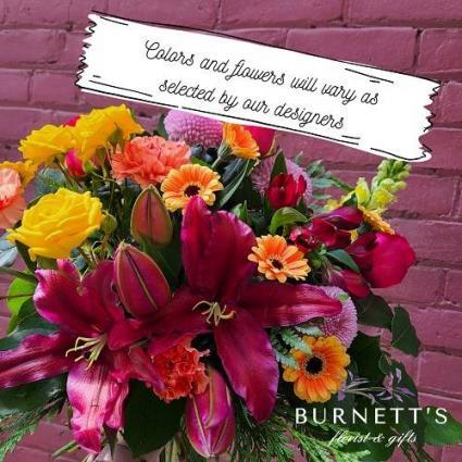Florists Choice Deluxe Traditional Vase Arrangement