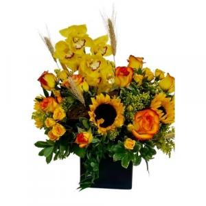 Autumn Song Vase arrangement. in Coral Springs, FL | Hearts & Flowers of Coral Springs