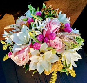 Designers Choice Vase - Pale & Pink  in Missouri City, TX | Flower Peddler