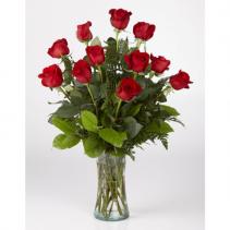 Designer's Dozen Red Roses Arrangement