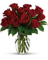 Desktop Dozen Flower Arrangement