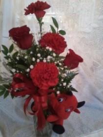Devil bud vase