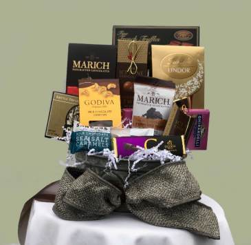 Divine Chocolate Basket Gift Basket