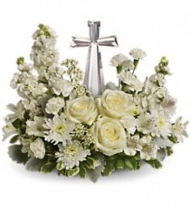 Devine Peace Bouquet           T229-2 fresh keepsake arrangement