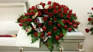 Devoted Heart Casket Spray casket spray in Bryson City, NC | VILLAGE FLORIST & GIFTS
