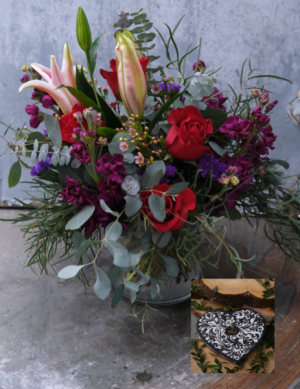 Devotion, Chocolates and Valentine Balloon Deluxe Package in Monmouth, OR | PETALS & VINES FLORIST