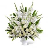 Devotional white urn