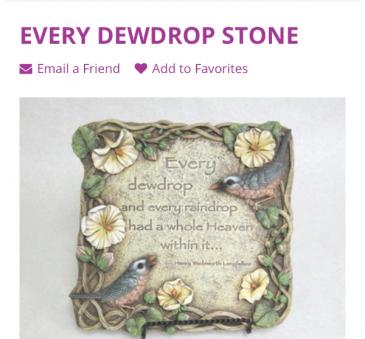 Dew Drop Stone