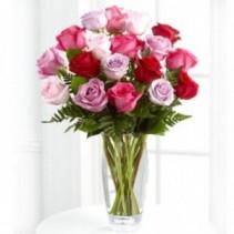 Romance Enhancer Bouquet 18 Mixed Roses
