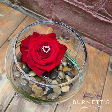 Diamante Rose Vase Arrangement