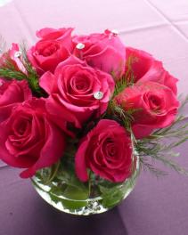 "Diamond & Roses $38.00  10"" tall"