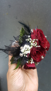 Diamonds And Feathers Corsage Select Colors