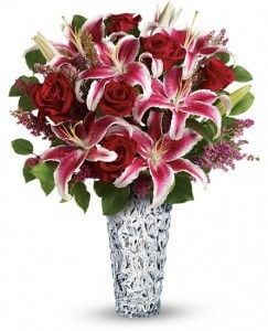 Diamonds And Lilies Bouquet Florial Arrangement