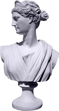 Diana Bust Statue