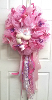 Diaper Baby - It's A Girl Door Wreath