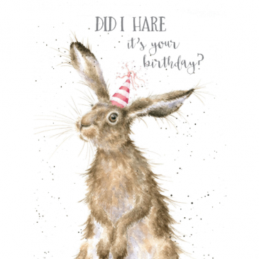 did I hare it was your birthday card