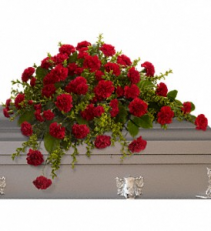 Dignified Carnations Casket Spray