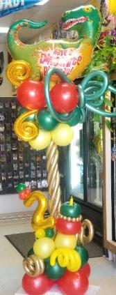 Dinosaur Balloon Column Balloon Bouquet